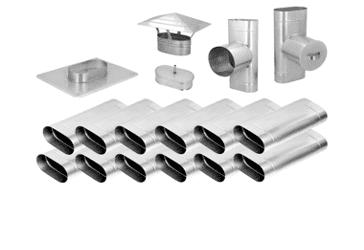 Дымоходы овального сечения из нержавеющей стали